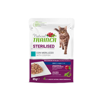 Natural Trainer Cat Sterilised, vrečka - polenovka - 85 g