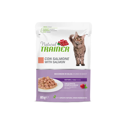 Natural Trainer Cat Mature, vrečka - losos - 85 g