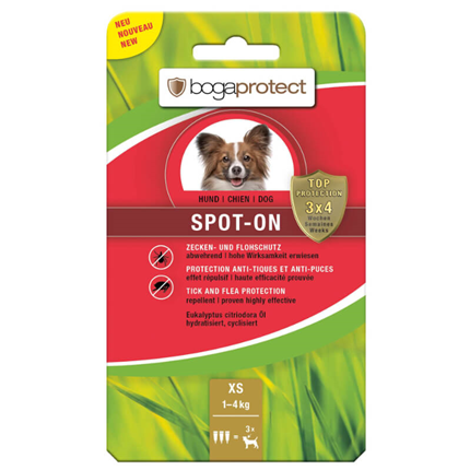 Bogaprotect Spot-On pipeta - XS (1-4 kg)