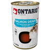 Ontario Cat pijača s koščki lososa 135 g