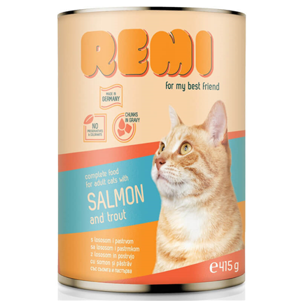 Remi Cat koščki v omaki - losos in postrv