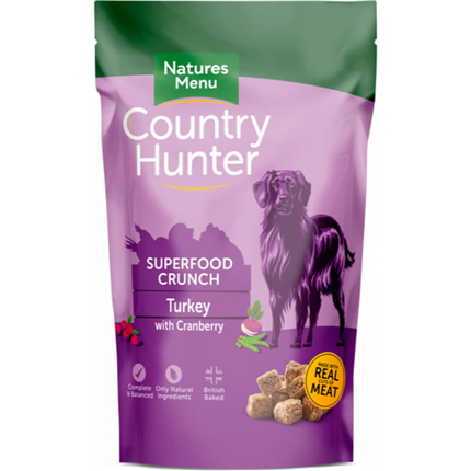 Natures Menu Country Hunter Superfood Crunch - puran in brusnice - 1,2 kg