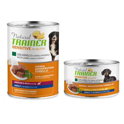 Natural Trainer No Gluten Adult - ovca in žito