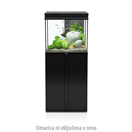 Aquatlantis Elegance Expert LED 2.0 (136 l), črn - 61 x 40,4 x 55 cm