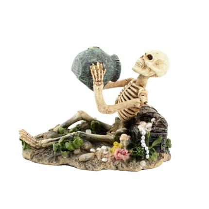 Aquatlantis dekor, okostnjak z zakladom - 13,5 x 9,5 x 10 cm