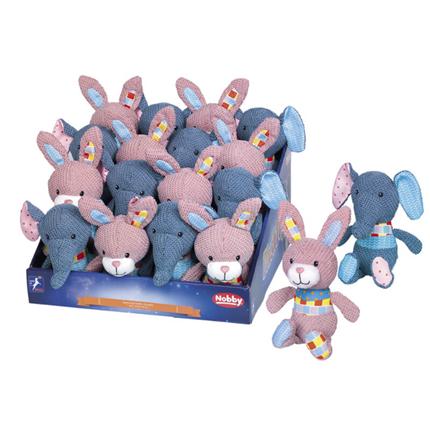 Nobby plišasta igračka slon/zajček - 19-22 cm