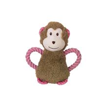 Nobby plišasta opica+roza vrv - 21 cm