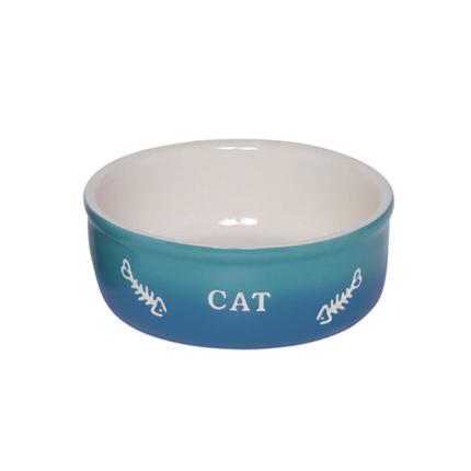 Nobby keramična posoda Cat, modra - 250 ml
