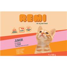 Remi Kitten Multipack vrečke, puran in kunec - 4 x 100 g