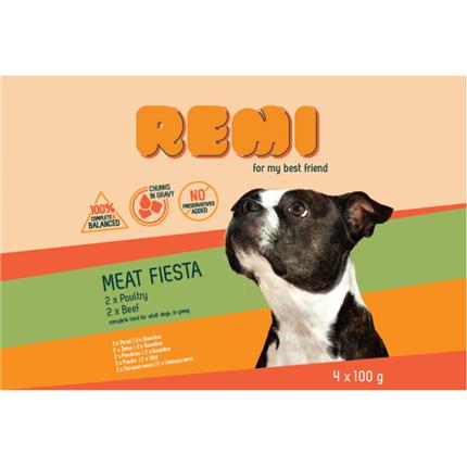Remi Dog Multipack vrečke, perutnina in govedina - 4 x 100 g