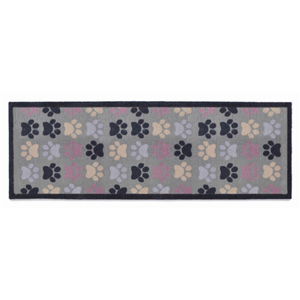 Preproga Multi Paw, večbarvne tačke - 50 x 150 cm