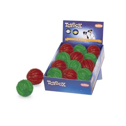 Nobby žoga Spiky Ball Flash & Glow - 6,5 cm