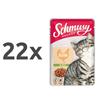 Schmusy Ragout Jelly - piščanec 22 x 100 g