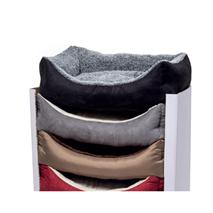 Leopet oglato ležišče Rodi, pliš in tekstil - 45 x 60 cm