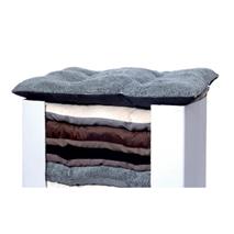Leopet oglata blazina Bomber, pliš in tekstil - 60 x 85 cm