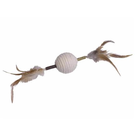 Nobby igrača matatabi, palica s perjem in zvončki - 28 cm