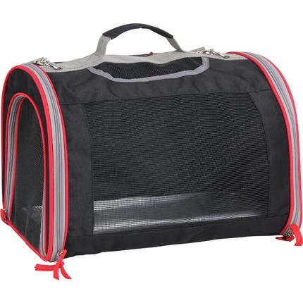 Pawise torba za pse, črno-rdeča - 48 x 31 x 35 cm