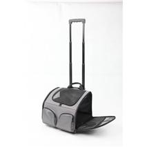 Pawise torba na kolesih za pse, sivo-črna - 40 x 30 x 28 cm