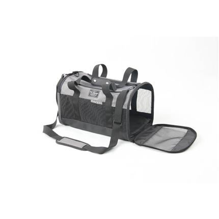 Pawise torba za pse, sivo-črna - 45 x 27 x 27 cm