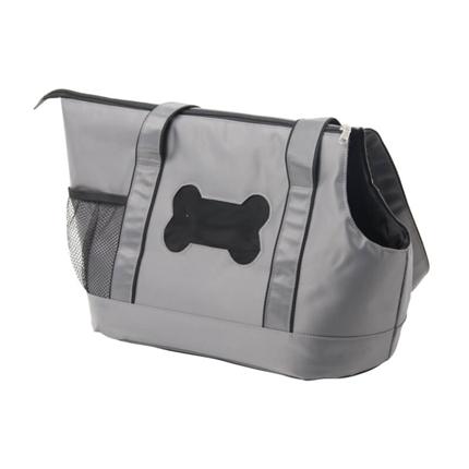Pawise torba za pse Black Bone, siva - 49 x 20 x 29 cm