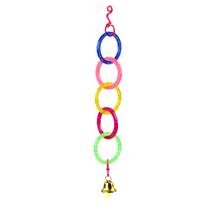 Pawise igrača za ptice, obročki in zvonček - 29,5 cm