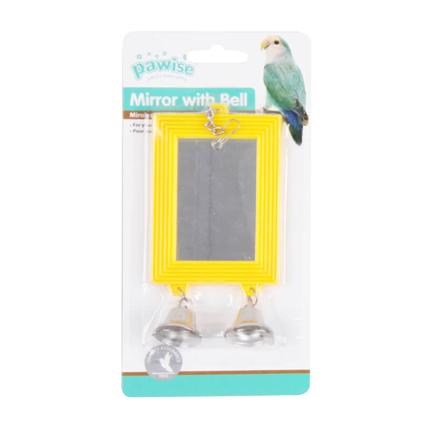 Pawise igrača za ptice, ogledalo in zvonček - 13,5 x 6,8 cm