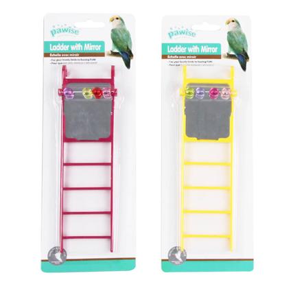 Pawise igrača za ptice, lestev z ogledalom - 20 x 5,5 cm