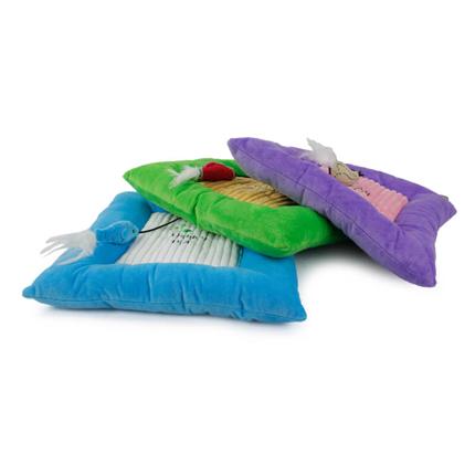 All For Paws blazina z mačjo meto, vijolična/modra/zelena - 34 x 34 cm