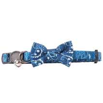 Pawise ovratnica za mačke s pentljo, modra - 30 cm