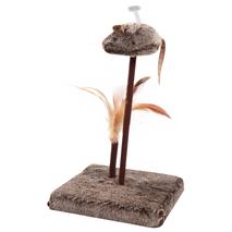 Pawise podstavek z miško in perjem - 27 cm