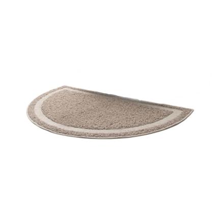 Pawise predpražnik za mačji WC, siv polkrog - 60 x 36 cm
