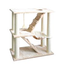 Pawise praskalnik Kitty Play Place II, bež - 80 x 40 x 95 cm