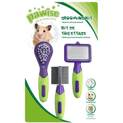 Pawise grooming set za glodalce, 3 v 1