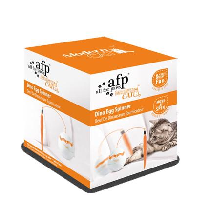 All For Paws interaktivna mačja igrača Egg Spinner - 11 x 8,5 x 9 cm