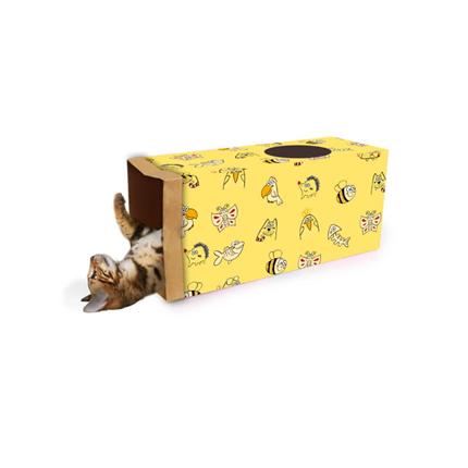 All For Paws tunel za mačke Catoon, rumen - 61 cm
