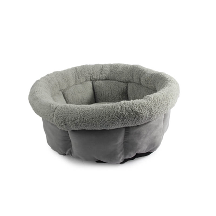 All For Paws Cuddle Lamb okroglo ležišče, siva - 45 x 45 x 22 cm