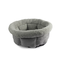 All For Paws Cuddle Lamb okroglo ležišče, siva - 53 x 53 x 24 cm