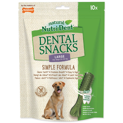 Nutri Dent Dental Snacks, L - 10 kos