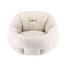 Nobby ležišče okroglo Comfort Puppy, belo - 50x45x32cm