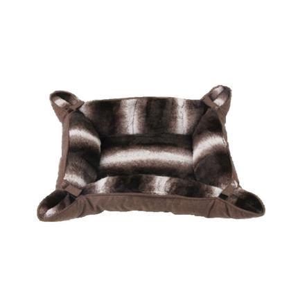 Pawise ležišče za mačke Deluxe, rjava - 64,5 x 55,5 x 8 cm