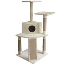 Pawise praskalnik Cat Tree, bež - 77 x 66 x 130 cm