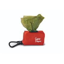 Beeztees nosilec za drečke Limpa Super Pooper, rdeč - 7,5 x 3,5 x 4 cm