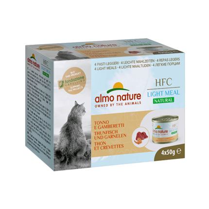 Almo Nature HFC Natural Light - tuna in kozice - 4 x 50 g