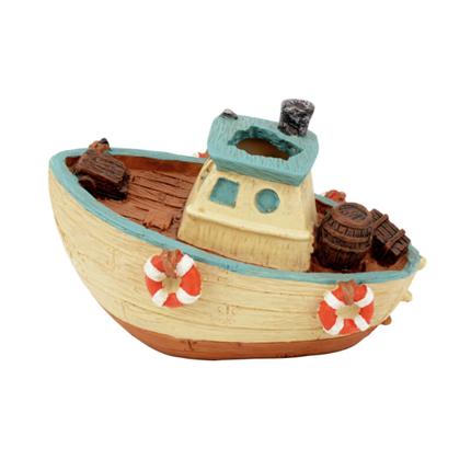 Aquatlantis akv. dekor ribiški čoln - 12x8x8,5cm