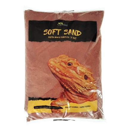 Aquatlantis terarijski pesek Soft Sand, rdeč - 4kg