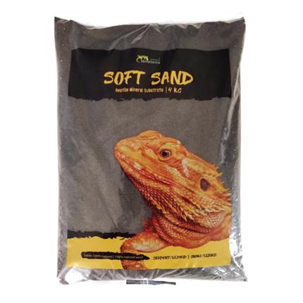 Aquatlantis terarijski pesek Soft Sand, črn - 4kg