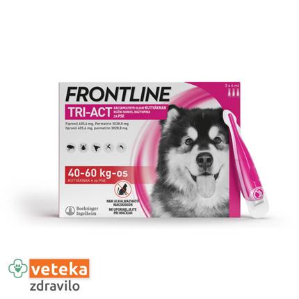 Frontline Tri-Act za pse, 40-60 kg - 3 ampule