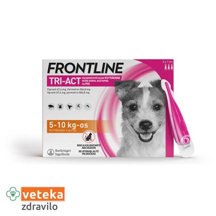 Frontline Tri-Act za pse, 5-10 kg - 3 ampule