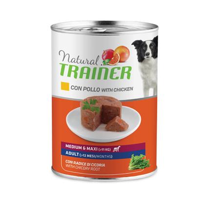 Natural Trainer Medium/Maxi Adult - piščanec