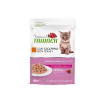 Natural Trainer Cat Kitten&Young, vrečka - puran - 85 g